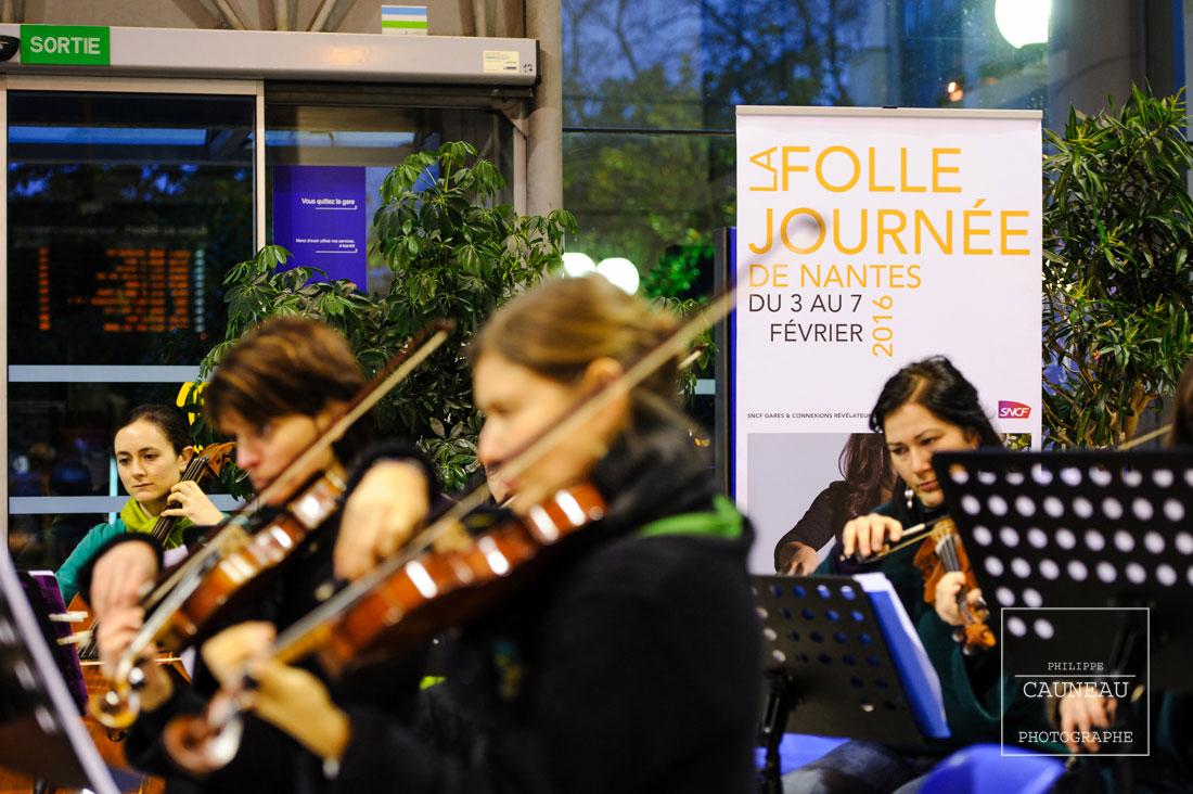 Concert donné en gare de Nantes pour la Folle Journée 2016